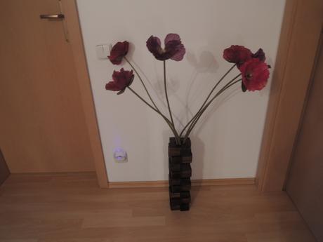 Dřevěná váza,