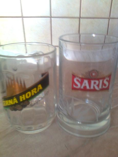 pivové poháre - každý iný/ 5 ks,