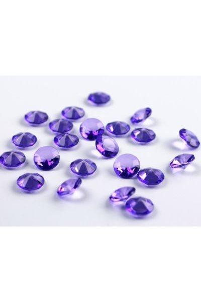 Briliantové kamínky, 12mm, fialové-100 ks,