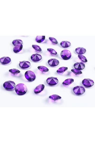 Briliantové kamínky,12mm, purpurově fialové-100 ks,
