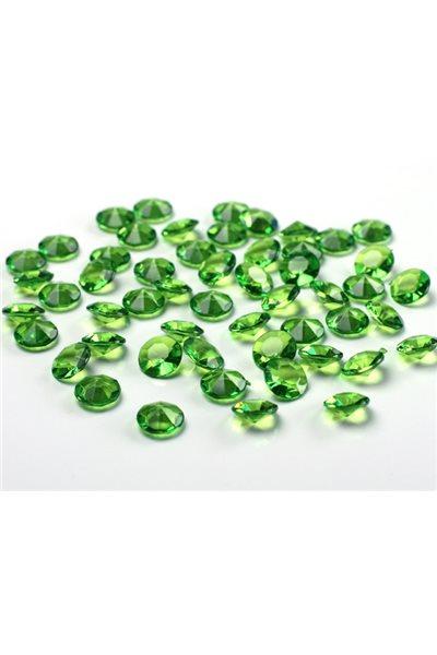 Briliantové kamínky, 12mm, světle zelená-100 ks,