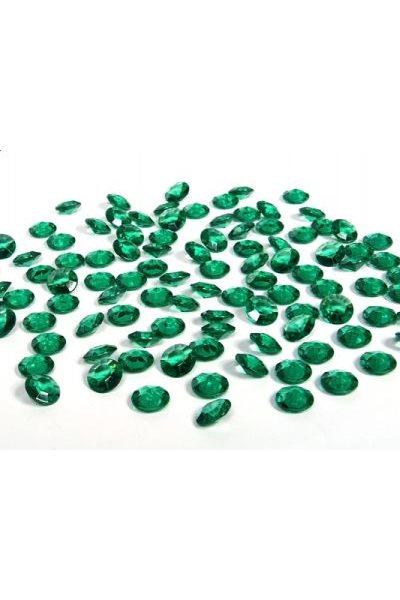 Briliantové kamínky, 12mm, zelené-100 ks,