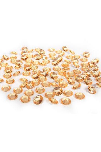 Briliantové kamínky,12mm, zlaté-100 ks,