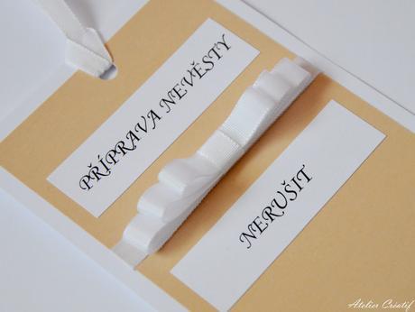 Cedulka-příprava nevěsty IV.,