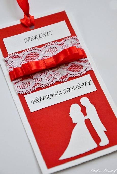 Cedulka-příprava nevěsty-silueta I.,