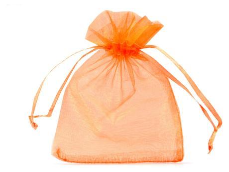 Dárkový pytlík 90x110 mm organza-oranžová,