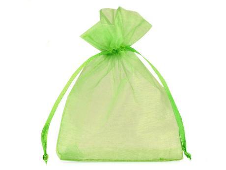 Dárkový pytlík 90x110 mm organza-zelená světlá,