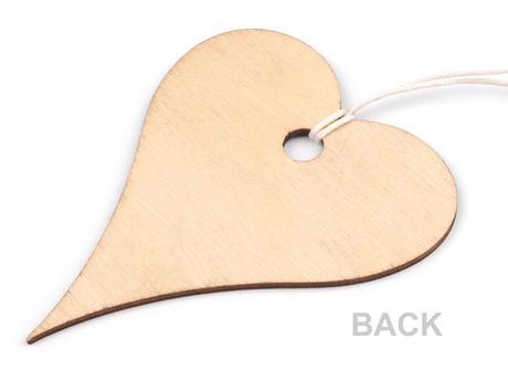 Dekorace srdce 7x8 cm,