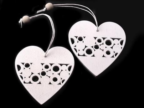 Dřevěná dekorace-srdce,