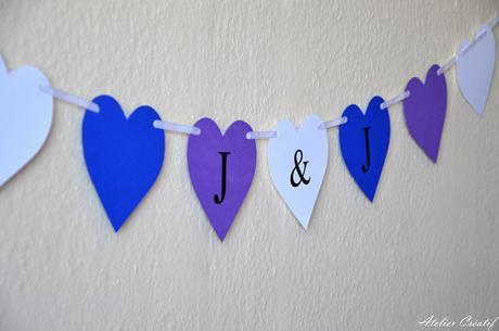 Girlanda-srdce-iniciály IV.,