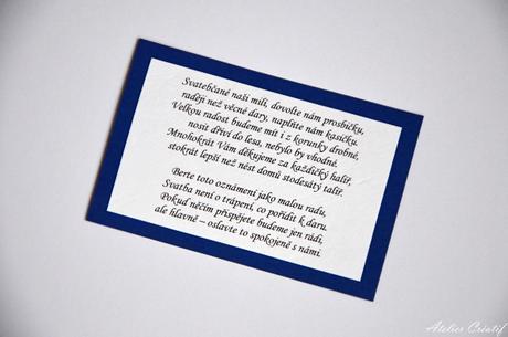 Kartička-svatební dary I.,