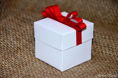 Krabička na svatební mandle,
