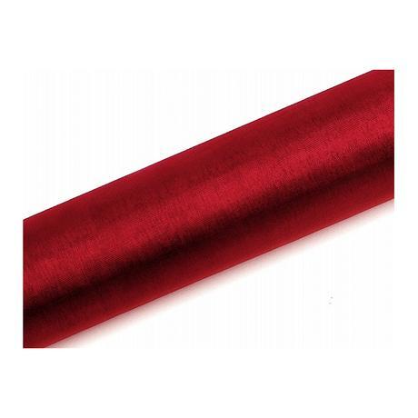 Organza 0,16 x 9 m hladká, červená,