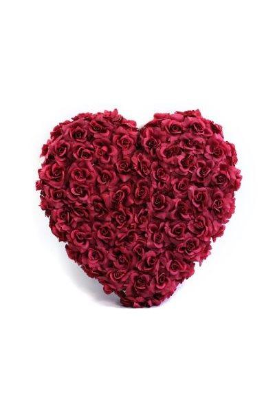 Ozdoba na auto-srdce plné, 50cm, bordó,