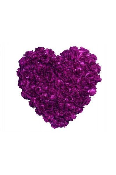 Ozdoba na auto-srdce plné, 50cm, fialová,