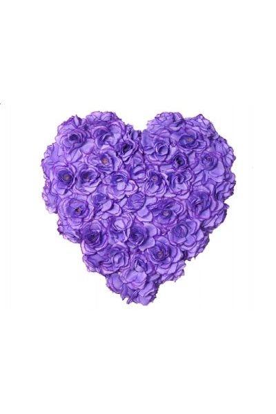 Ozdoba na auto-srdce plné, 50cm, lila,