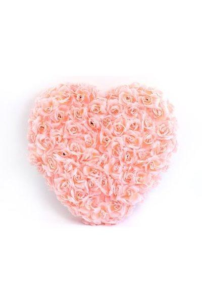 Ozdoba na auto-srdce plné, 50cm, růžová,