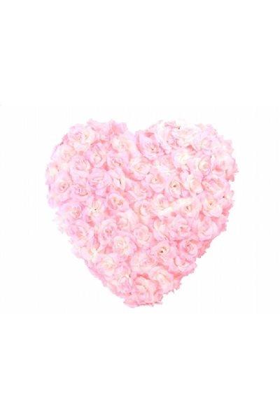 Ozdoba na auto-srdce plné, 50cm, světle růžová,
