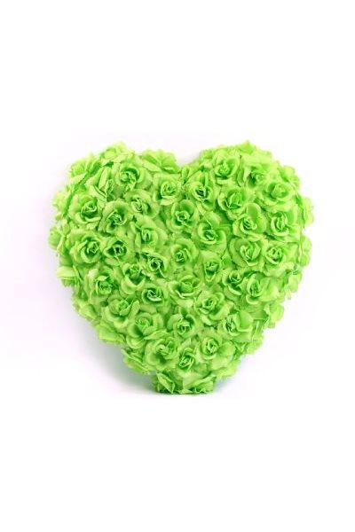 Ozdoba na auto-srdce plné, 50cm, světle zelená,