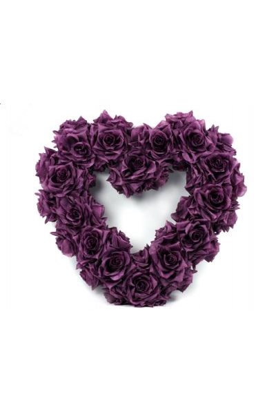 Ozdoba na auto-srdce prázdné, 50cm, fialové,