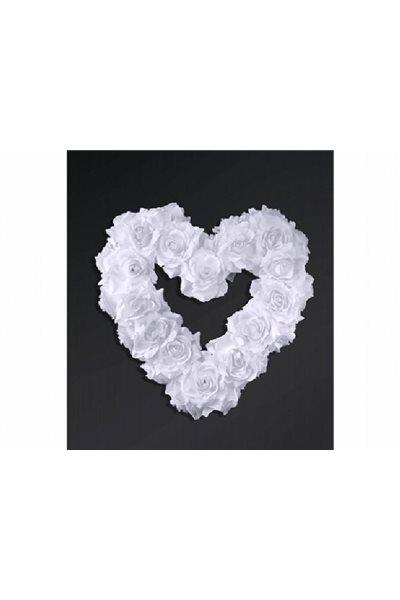 Ozdoba na auto-srdce prázdné, bílé,