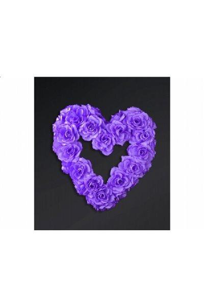 Ozdoba na auto-srdce prázdné, lila,