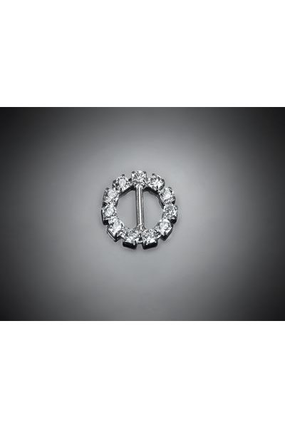 Ozdobná spona, kruh s kameny, 15 mm,