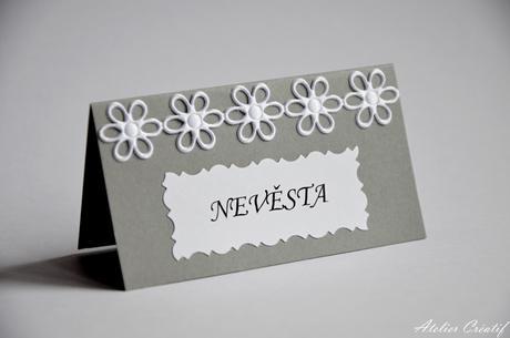 Svatební jmenovka-květinová III.,