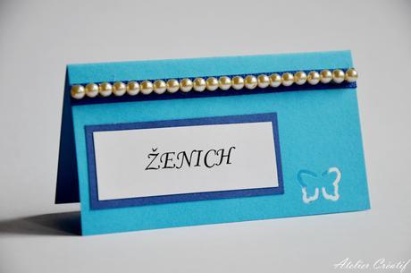 Svatební jmenovka-perličky I.,