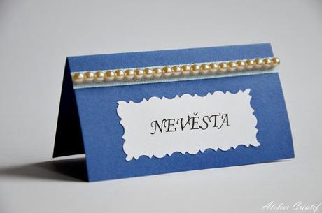 Svatební jmenovka-perličky III.,