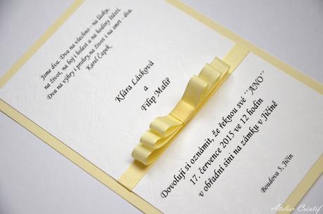 Svatební oznámení-mašlička II.,
