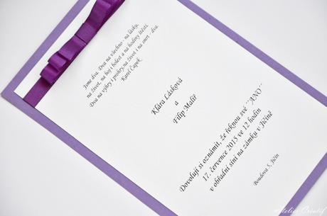 Svatební oznámení-mašlička IV.,