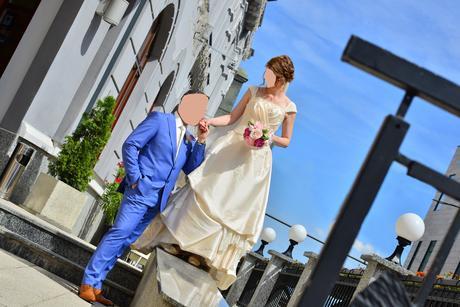 trendový svadobný oblek zn. alan delon , 54