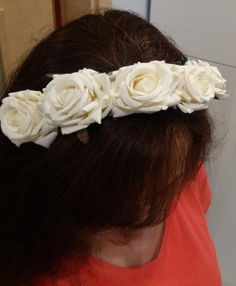 Květinová čelenka do vlasů.,