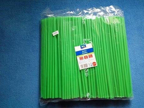 Zelená brčka 250 ks,