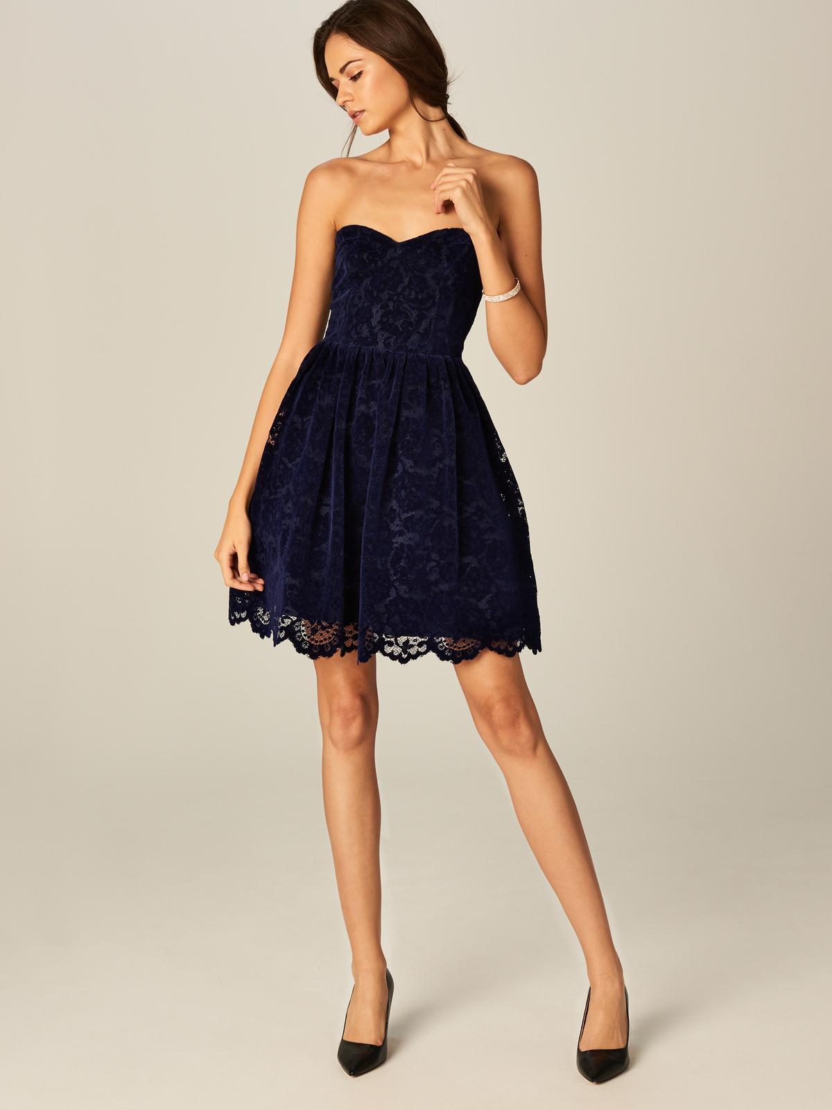 eca85b944b Tmavomodré šaty