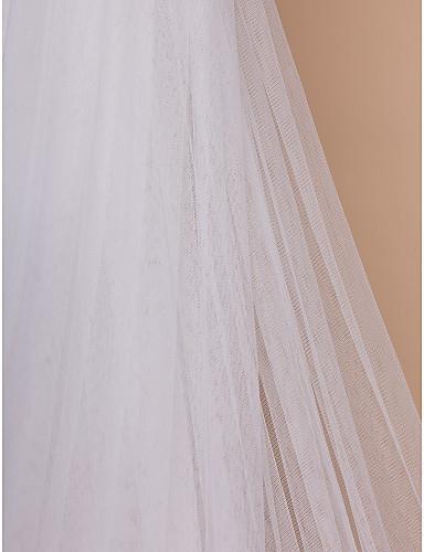 Dlouhý svatební závoj bílý 06,