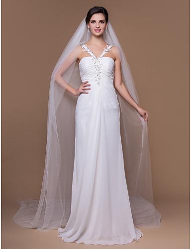Dlouhý svatební závoj bílý 06-SKLADEM,