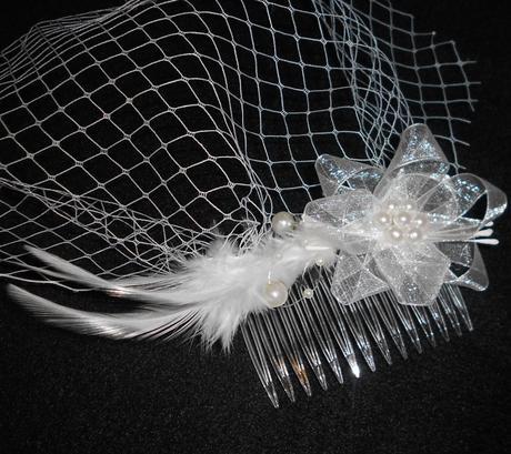 Francouzský závoj Sweet Bride 05-SKLADEM,