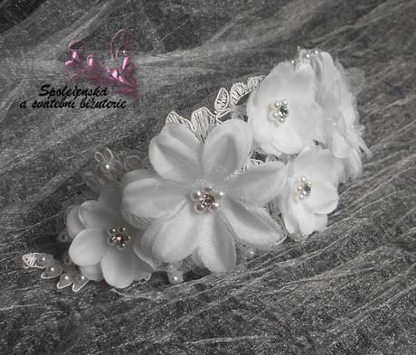 Květinová tiára 34-SKLADEM,