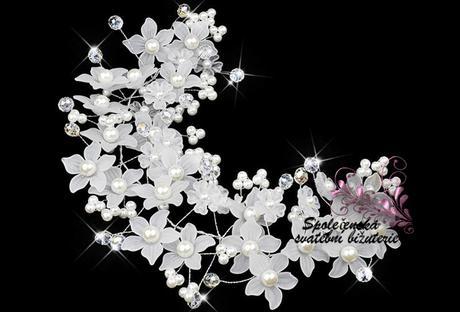 Květinová tiara 42-SKLADEM,