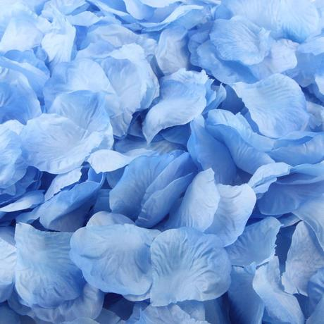 Okvětní lístky růže modrá 100ks,