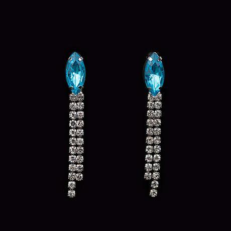 Plesová bižuterie modrá 09,