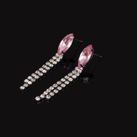 Plesová bižuterie růžová 08-SKLADEM,
