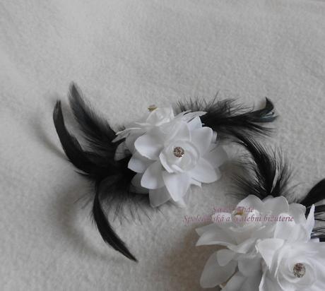 Spona Sweet Bride černobílá 12-SKLADEM,