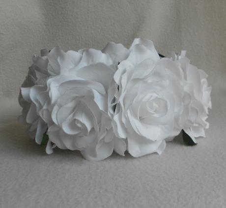 Svatební květinová čelenka 02-SKLADEM,
