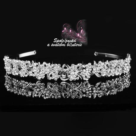 Svatební perlová čelenka 47-SKLADEM,