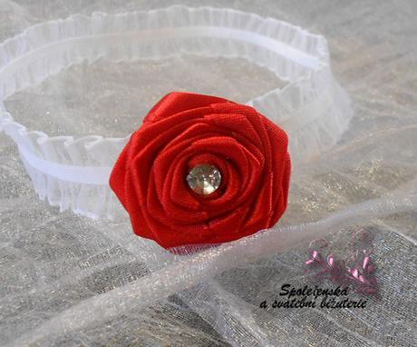 Svatební podvazek s růží 12, 38