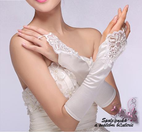 Svatební rukavice 03-SKLADEM,
