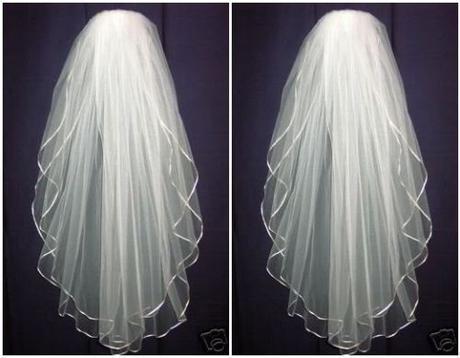 Svatební závoj bílý 01-SKLADEM,